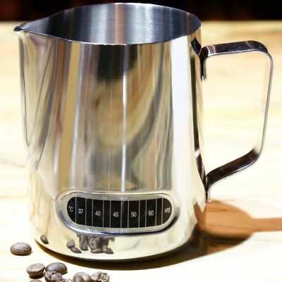 Stainless Steel Milk Frothing Jug  Coffee Latte Container Metal Pitcher