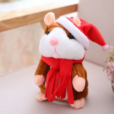 Cheeky Hamster Electric Talking Walking Pet Christmas Toy Speak Record Hamster