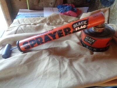 Vintage Boyle-Midway Black Flag All Purpose Bug Pump Sprayer Antique MUST SEE