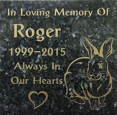 Granite Bespoke cremation memorial stones,Grave Marker, Plaque 12mmx300mmx300mm
