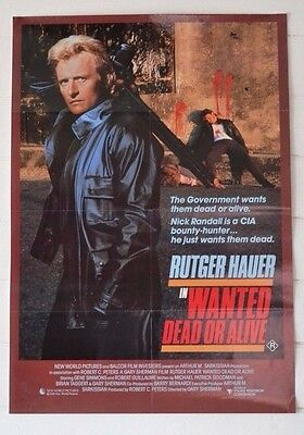 Vintage Movie Poster  Dead or Alive 1986