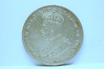 Straits Settlements 1920 50 Cents KM35.1, silver, VF, marks, some pinholes mab85