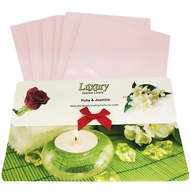 Ruby & Jasmine Original Scented Luxury Drawer Liners Ideal Gift      120gsm