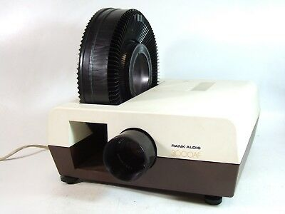 RANK ALDIS 3000AF SLIDE PROJECTOR - NOT PERFECT but works & cheap. Instructions