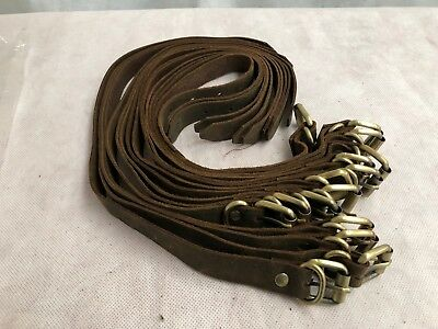 Tough Leather Straps with Brass Buckles Leather Crafts 30/40/50cm x 20mm