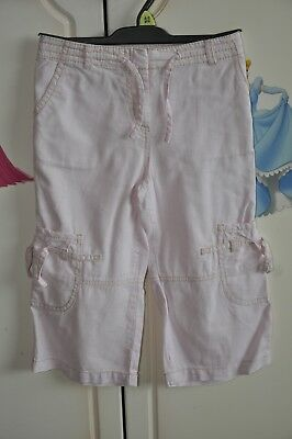 Girls Linen cropped Trousers, Age 6, Next.