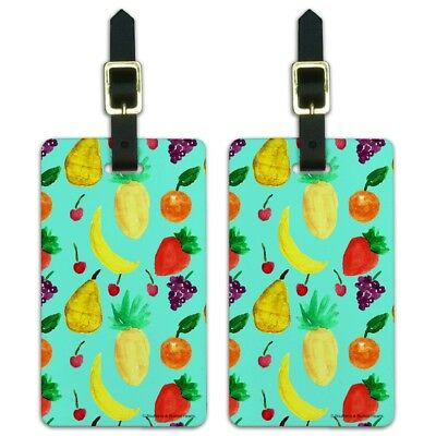 Fruit Salad Pattern Luggage ID Tags Suitcase Carry-On Cards - Set of 2