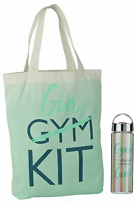 Gym/Gin Water Bottle and Bag Set