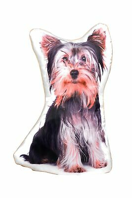Jack Russell Cushion Shaped Satin Front /& Velour Black  With Plump Filling