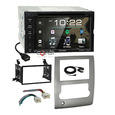 KENWOOD BLUETOOTH SPOTIFY Stereo Silver Dash Kit Harness for ... on