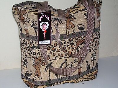 Betty Boop Safari Giraffe Tote Bag Brown Black Brand New in Bag