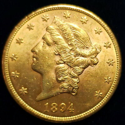 1894 $20 American Liberty Head Gold Double Eagle Nice Collector Coin >LHDE9407