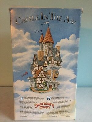 David Winter Cottages Castle in the Air MINT In Box with COA (No Flags)