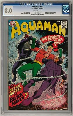 Aquaman #35 CGC 8.0 (OW) 1st Appearance of Black Manta Nick Cardy Cover and Art