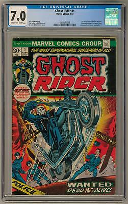 Ghost Rider #1 CGC 7.0 (OW-W) 1st App. of the Son of Satan (Daimon Hellstrom) in