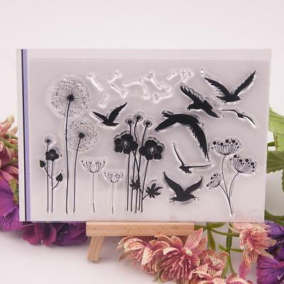 1X Dandelion geese silicone rubber seal Clear Stamp DIY Scrapbooking Diary Cards