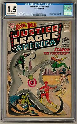 Brave and the Bold #28 CGC 1.5 (C-OW) 1st App. of  the Justice League of America