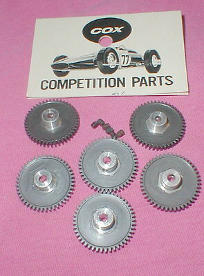 47 Tooth Factory Dealer Bags of 6 Spur Gears by COX Original Slot Car NOS Bulk