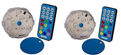 2 Game Magnetic Remote Control LED Color Changing Above Ground Pool Light New