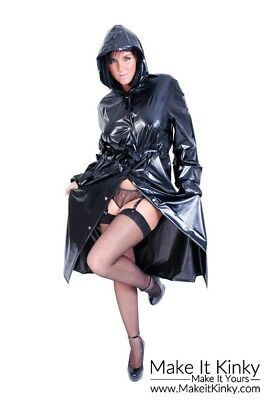 Fashion Mac - Plastic PVC Clothing Rain Gear Coat PVCULIKE Jacket Wet Look Shiny