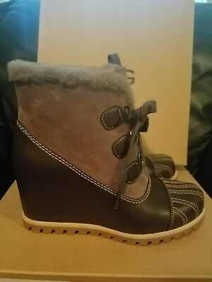 ee978ed72cd UGG ALASDAIR WOMEN'S wedge bootie size 6 color slate leather 1018889