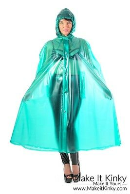 Long Cape - Plastic PVC PVCULIKE Shiny Gear Rain Coat Outfit Jacket