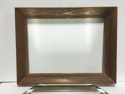 """VTG. Arts and Crafts Mission Mid Century Solid OAK Picture Frame Fits 10""""x14"""""""