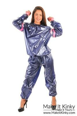 PVC Unisex Sauna Suit - Plastic Exercise Suit - Shiny PVC-U-Like