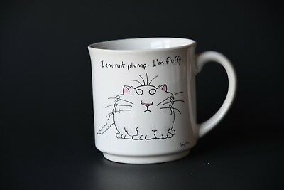 I'm Not Plump, I'm Fluffy Cat Coffee Mug- Funny Mug-Cat Lover
