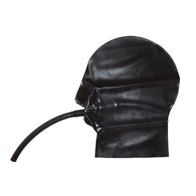 Latex Mask - Rubber Hood with Mouth Tube / Pipe