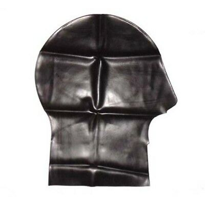 Latex Mask with Large Mouth - Rubber Hood Clothing Shiny