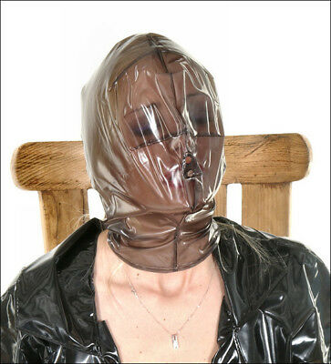 PVC Vacuum Mask / Plastic Breathing Hood - Outfit Clothing PVCuLIKE