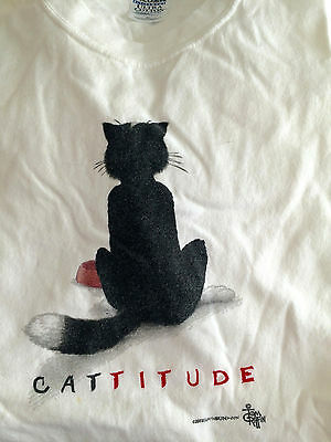 Xl Cattitude Tee T-Shirt (Unisex) Lover Mens Womens