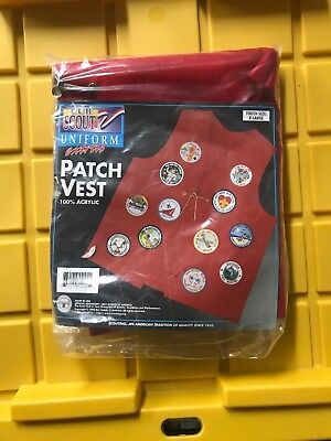 CUB SCOUT Uniform Patch Vest Brand New Size Youth XL Extra Large