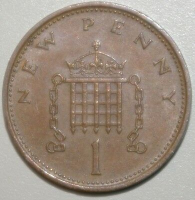 Great Britain 1 New Penny Coin 1979 Beautiful Condition