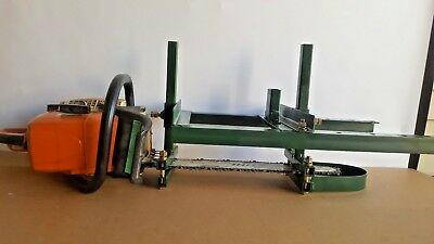 """Chain Saw Mill  Attachment Portable Lumber Planks Logs APX24  14""""- 30""""CS"""