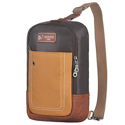 Sling Backpack Anti Theft Canvas Bag One Strap Crossbody Shoulder Bag Men Women