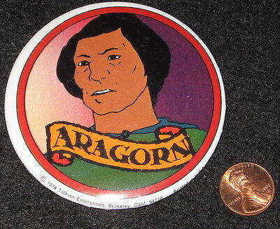 ARAGORN '78 vtg movie BUTTON Lord of the Rings Bakshi animated