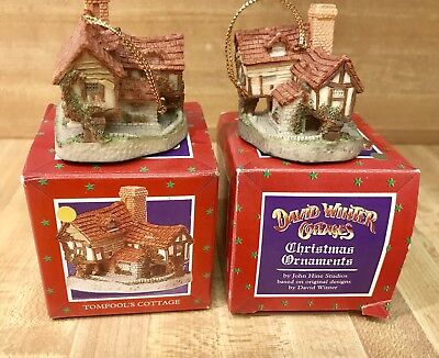 David Winter Cottages 1993 Christmas Ornament ~ TOMFOOL'S COTTAGE ~ New in Box