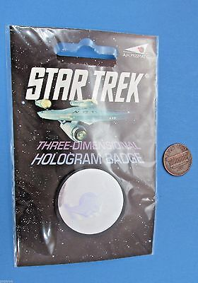 ROMULAN WARBIRD pinback badge HOLOGRAM '91 vtg - Star Trek
