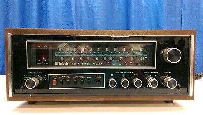Mcintosh MX 117 Preamp and Tuner Combo ExcellentWalnut Case Included-Pristine!