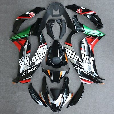 ABS Injection Fairing Bodywork Panel Kit Set Fit for Kawasaki Ninja ZX10R 16-18
