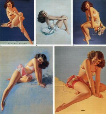 Pin-Up Book Page By Artist Rolf Armstrong -Page Features Several Pin -Up Grils