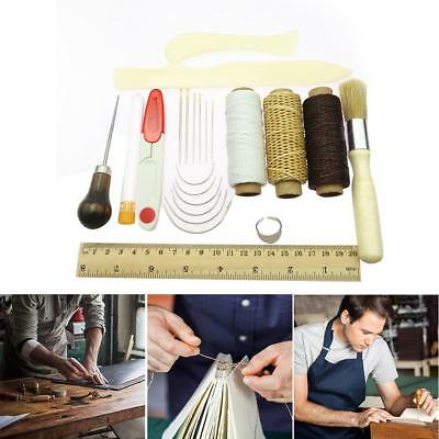 23Pcs Bookbinding Kit Starter Tools Bone Folder Paper Creaser Waxed Thread Set