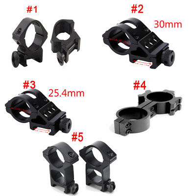 Tactical Scope Ring Torch Mount 20mm Picatinny Weaver Rail Mount For Airsoft