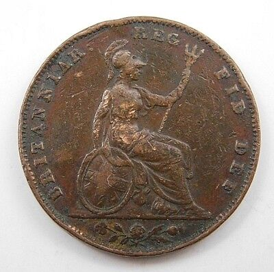 1853 Great Britain Penny Coin