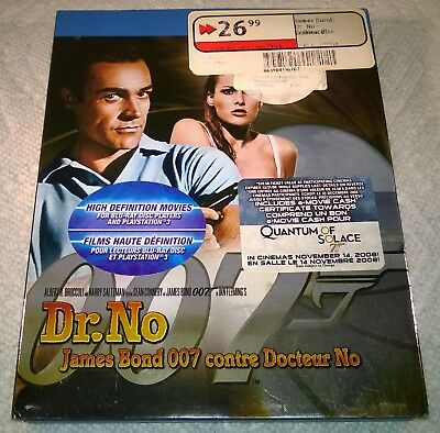 James Bond 007 : Dr. No (Blu-ray, 2008, Canada) with Slipcover Like New