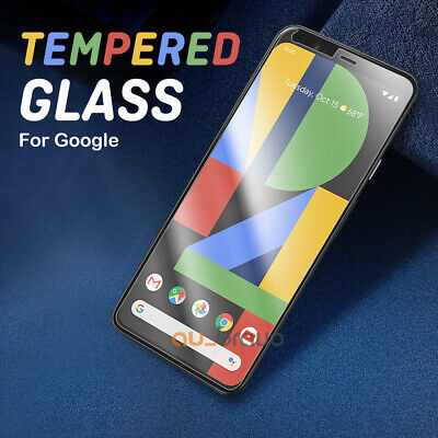 2x Pixel 4 3 3a XL 9H Premium Tempered Glass Screen Protector Film For Google