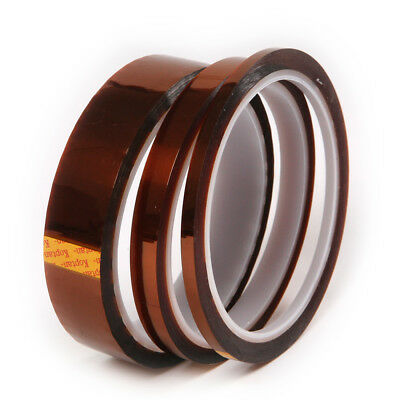 100ft Heat Resistant High Temperature Polyimide Kapton Tape Adhesive 4/9/20mm(W)