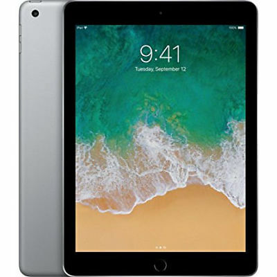 "Apple iPad 9.7"" (2018) 32GB Wifi - Gris Espacial con Funda Plegable Negro"
